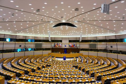 Zaal Europees Parlement Brussel